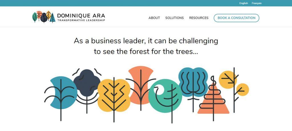 coach weboldal koncepció Dominique Ara