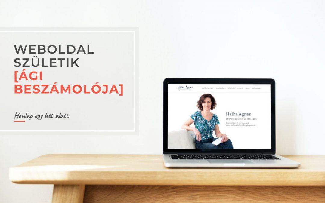 Weboldal születik – Ági beszámolója a weboldal készítésről