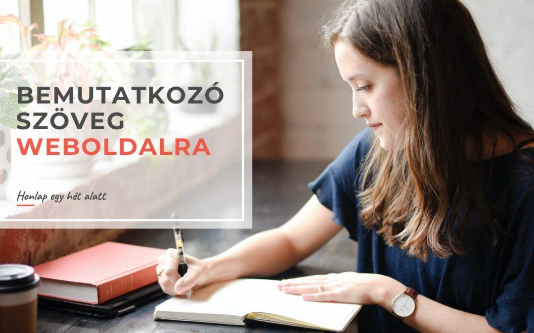 Bemutatkozó szöveg weboldalra – miért fontos ez, és hogyan írd meg